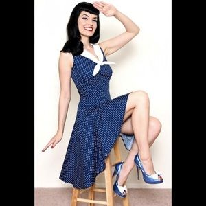 House of Haute Rockabilly Pin up Sailor Dress